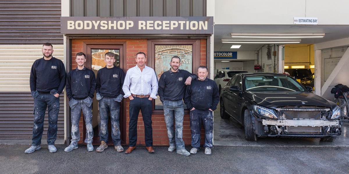 the PM Autobody Repairs team